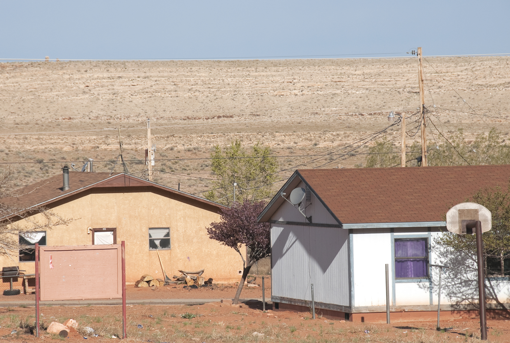 Houses on Navajo Reservation in northern Arizona