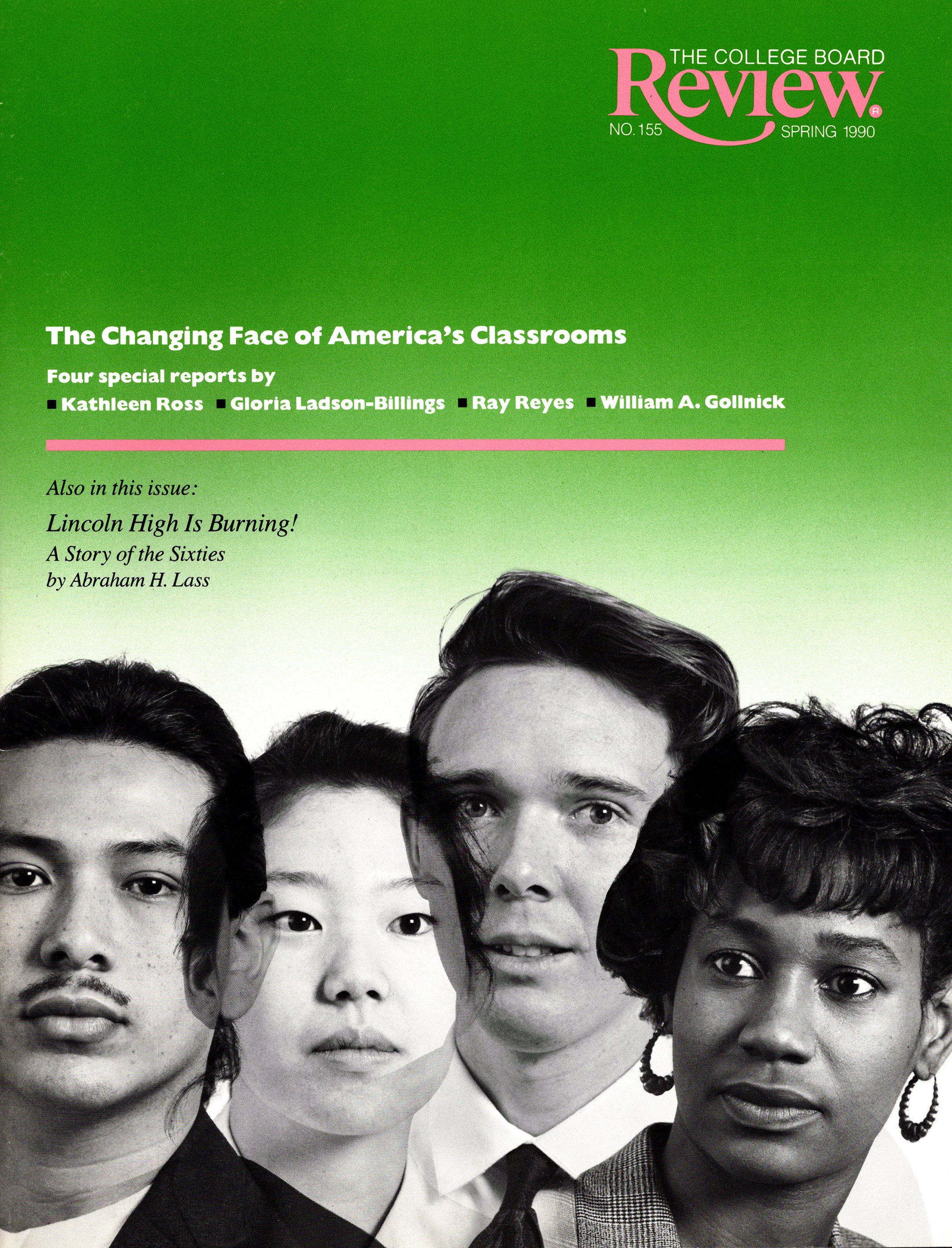 cover of the spring 1990 issue of the college board review
