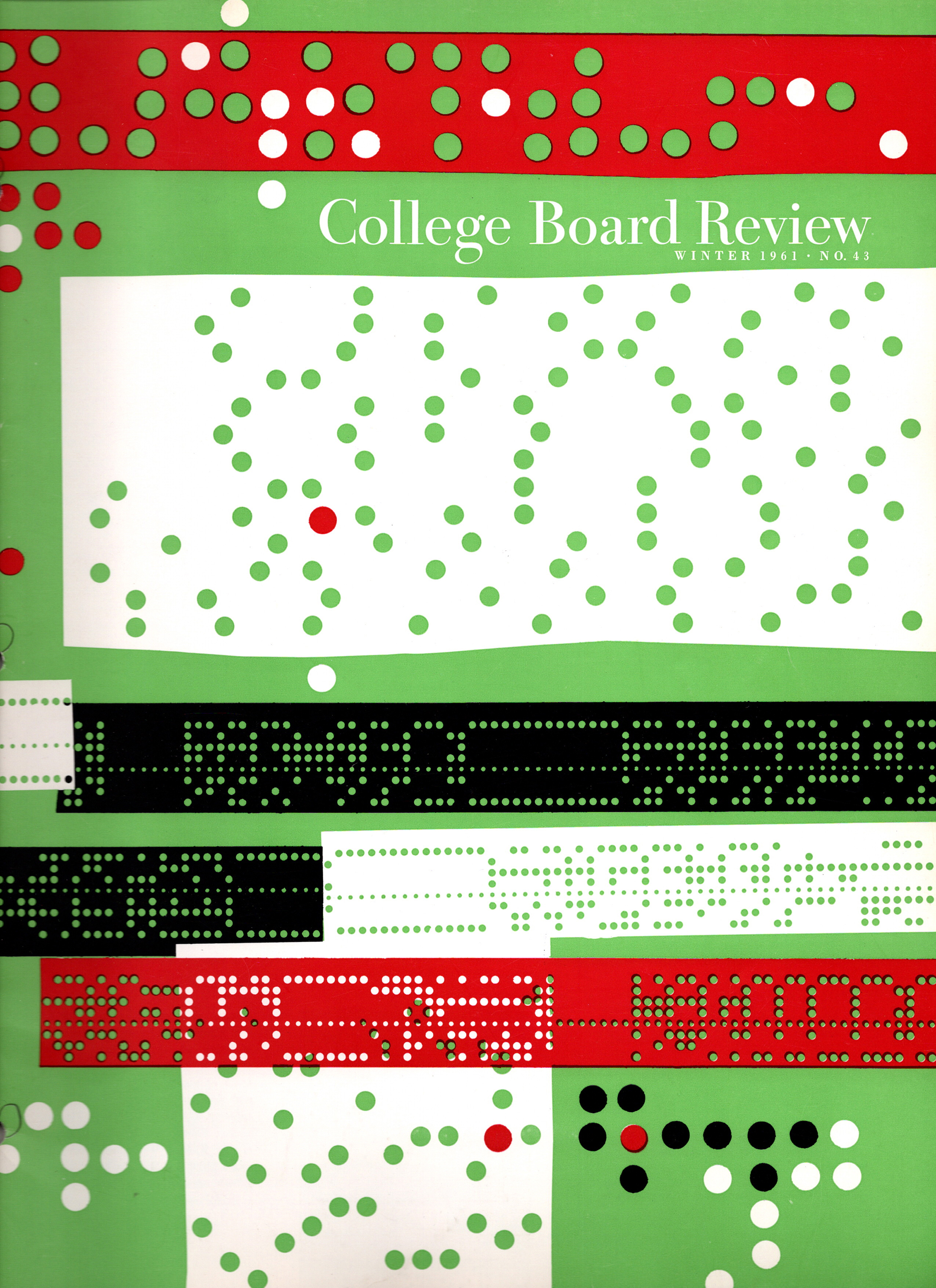 cover of the winter 1961 issue of the college board review magazine