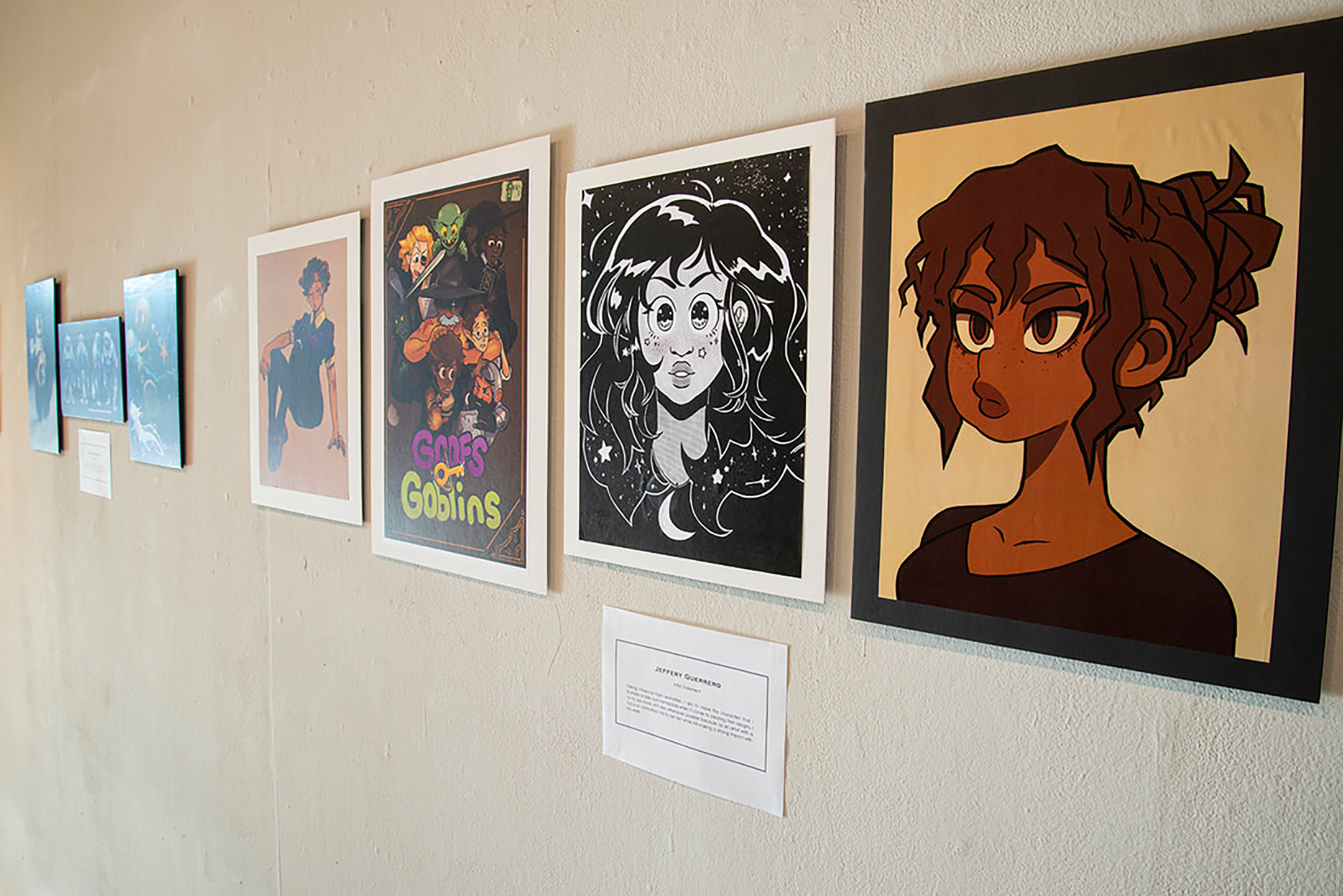 a view of the student art on display at magnolia arts in arkansas