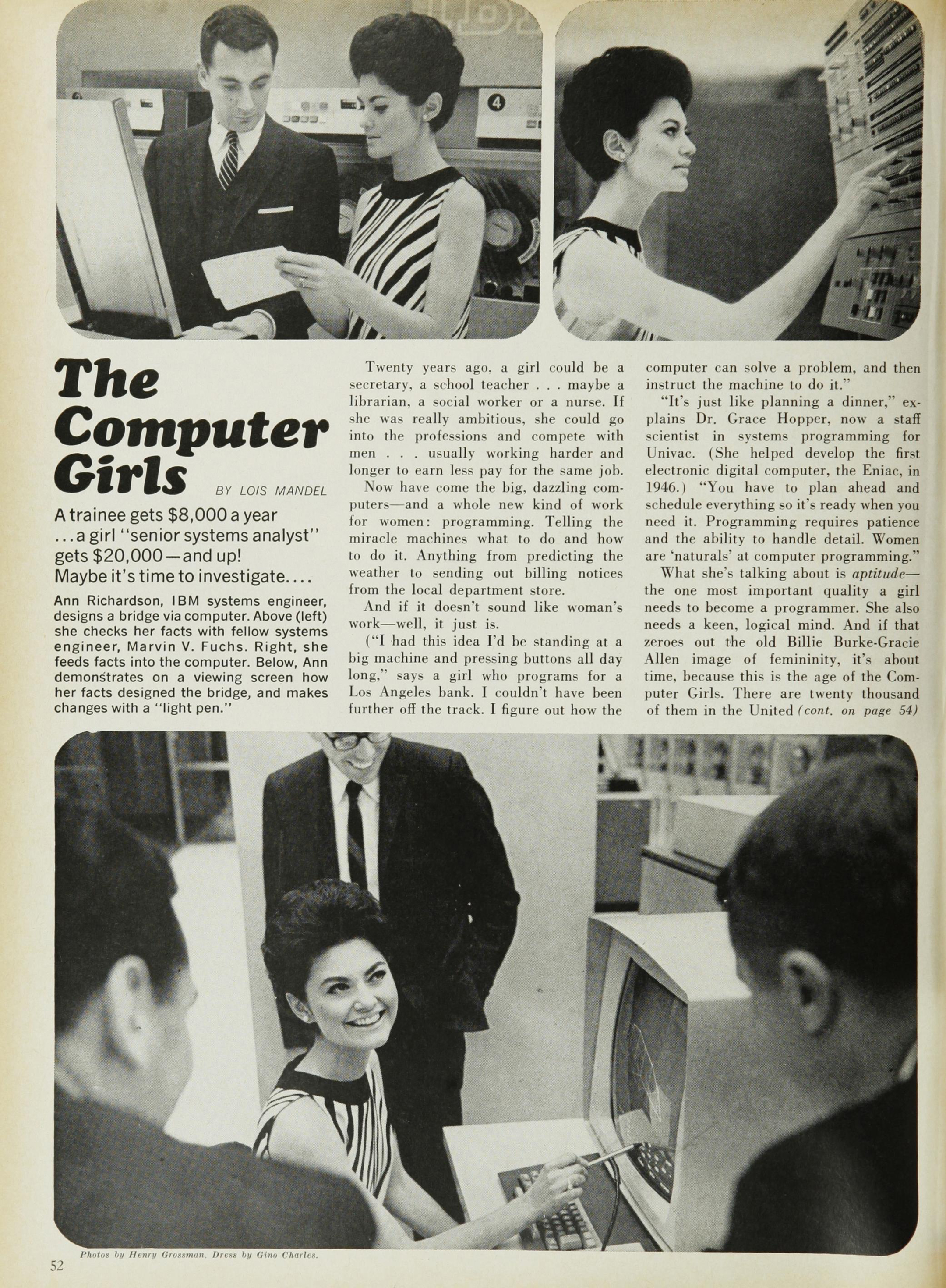 black and white page from the april 1967 issue of cosmopolitan magazine