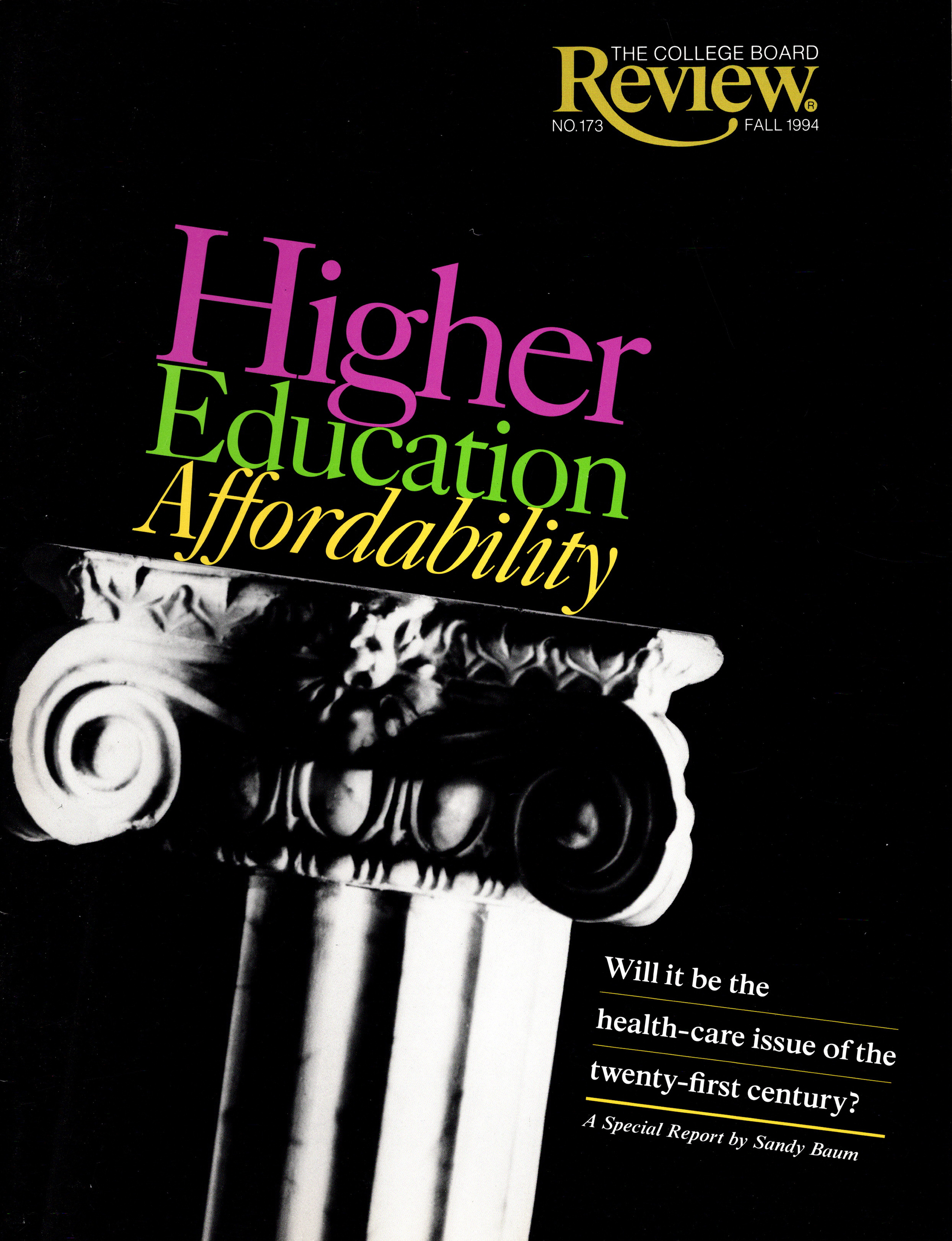 the cover of the fall 1994 issue of the college board review