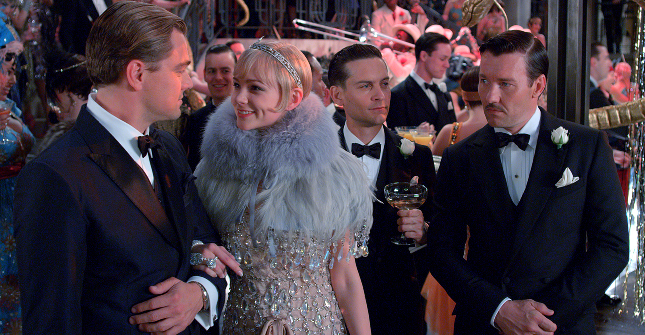 A party scene from the film The Great Gatsby
