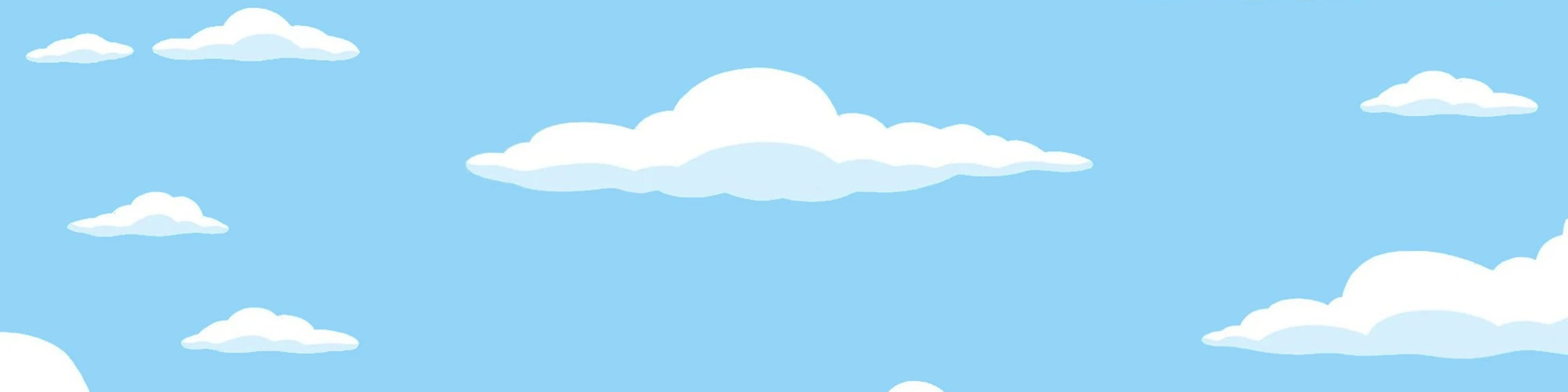 Illustration of blue sky with white clouds